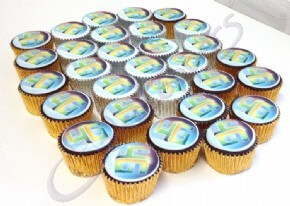 Logo cupcakes for O2 4G launch