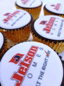 Delicious logo cupcakes for Jelson Homes