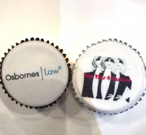Logo cupcakes for Osborne Solicitors