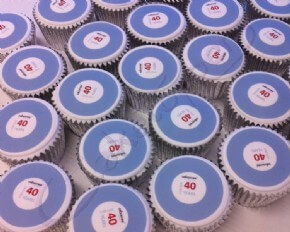 Cupcakes for Osbornes 40 years celebration
