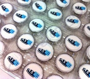 Mini Logo Cupcakes for AS