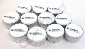 Airbus Defence & Space Logo Cupcakes
