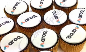Logo cupcakes for Aroq Ltd