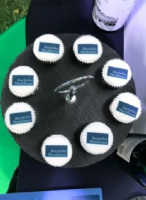 Mini cupcakes attracting customers to a stand at Construct Expo