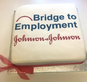 A logo cake for Johnson & Johnson