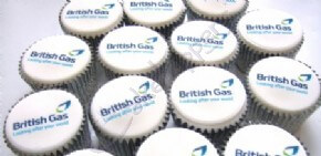 British Gas logo cupcakes