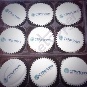 CT Partners Logo Cupcakes