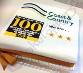 Coast & County Logo Cake