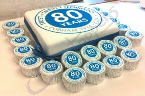 Cobham Antenna Systems celebrating 80 years with corporate cakes