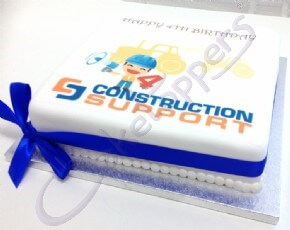 4th Birthday Cake for Construction Support