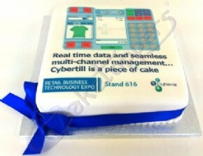 Cybertill's cake for their stand at the Retail Business Technology Expo