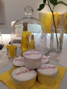 Logo cupcakes for Decleor 40th celebrations.