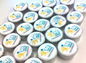 ETS Time To Shine Logo Cupcakes
