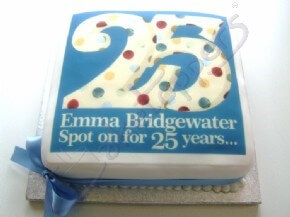 Emma Bridgewater 25 years celebration cake