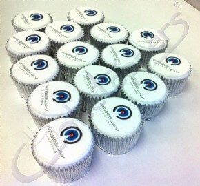 Freeway Lighting logo cupcakes for Lux Live