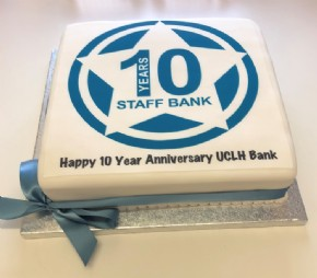 A Happy 10 Year Anniversary Cake for UCLH