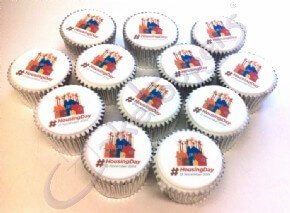 Housing Day logo cupcakes