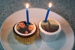 Photo cupcakes can even have room for candles