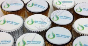 Logo cupcakes for John Williams Heating