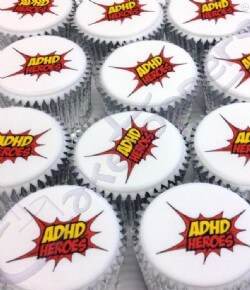 Logo Cupcakes for ADHD Heroes & Just Health Comms