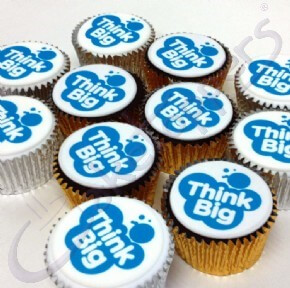 Logo cupcakes for Lakes College Think Big Week