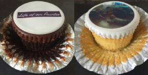 Our appetising chocolate and classic photo cupcakes enjoyed by blogger Life Of An Auntie