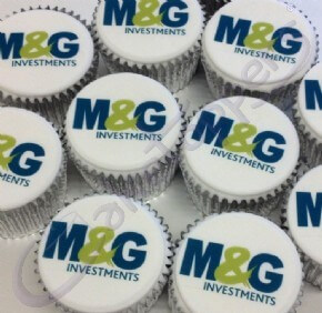 M&G Group Logo Cupcakes