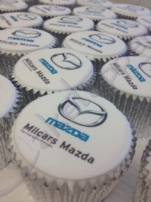 Logo cupcakes for Mazda dealer event