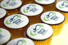 Logo Cupcakes for the CRE International Exhibition - Mercy Ships