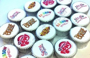 Multiple branded cupcakes