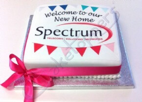 Celebrating a new home with a cake for Spectrum