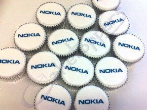 Logo cupcakes for Nokia