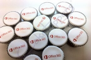 Office 365 logo cupcakes