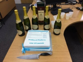 ProQuest website launch cake