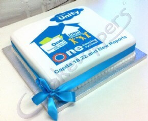 A logo cake for Project Unity