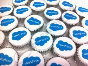 Salesforce logo cupcakes
