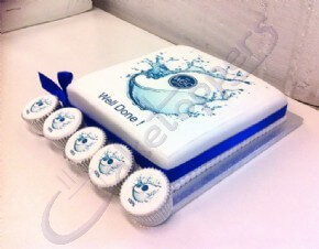 Logo cake and cupcakes for WGC