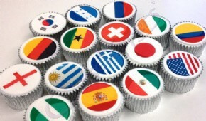 World Cup Flag Cupcakes