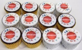 Abacus logo cupcakes