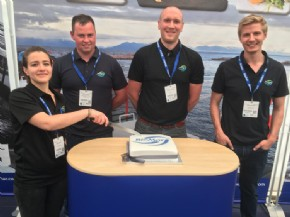 A branded cake to welcome visitors to Aquaculture UK