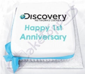 Discovery Networks Company Anniversary Cake