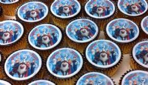 Disney Frozen cupcakes for a customer event