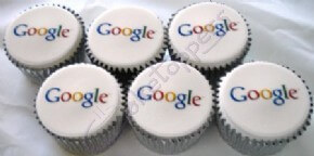 Corporate cupcakes for Google with their logo