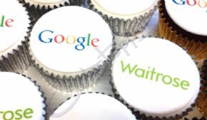 Google and Waitrose cupcakes