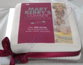 A photo cake for Mary Berry's book launch