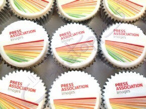 Press Association Images' logo cupcakes