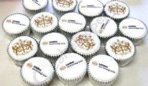 London Stock Exchange's two sets of logo cupcakes