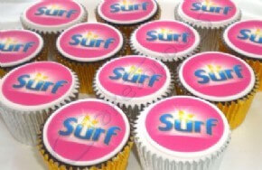Surf (Unilever) branded cupcakes
