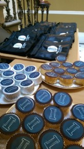 Tunstall launched their Innovations Lab with logo cupcakes