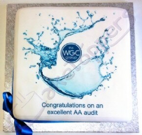 One of WGC's congratulatory cakes for excellent team performance